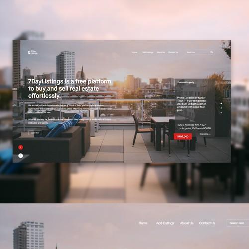 Minimalistic real estate website concept