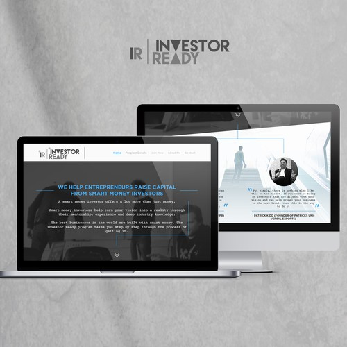 Sleek and text oriented website design