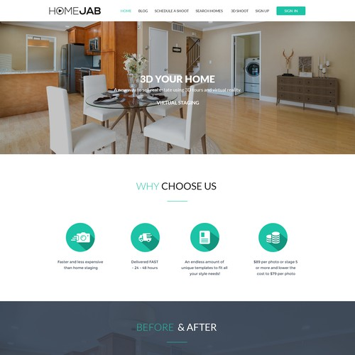 Home jab Landing page