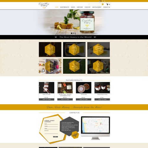 web site concept for honey bee company