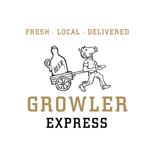 Logo for a beer-delivery service