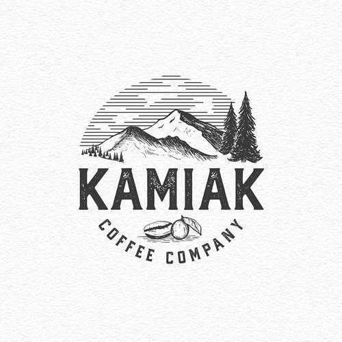 LOGO CONCEPT FOR KAMIAK COFFEE