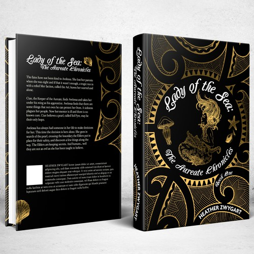 Book cover design for Lady of the Sea: The Aureate Chronicles