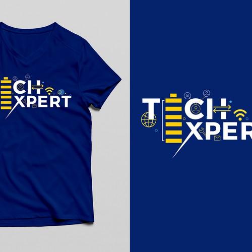 T-shirt design for technology based design