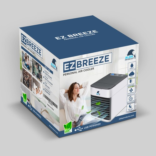 packaging design for our Personal Air Cooler