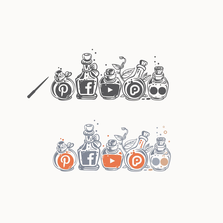 the Emporium Brand Identity & Social Media Icons