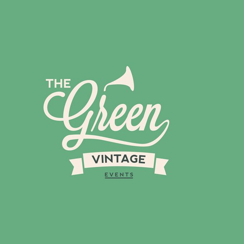 Create vintage logo for one events company