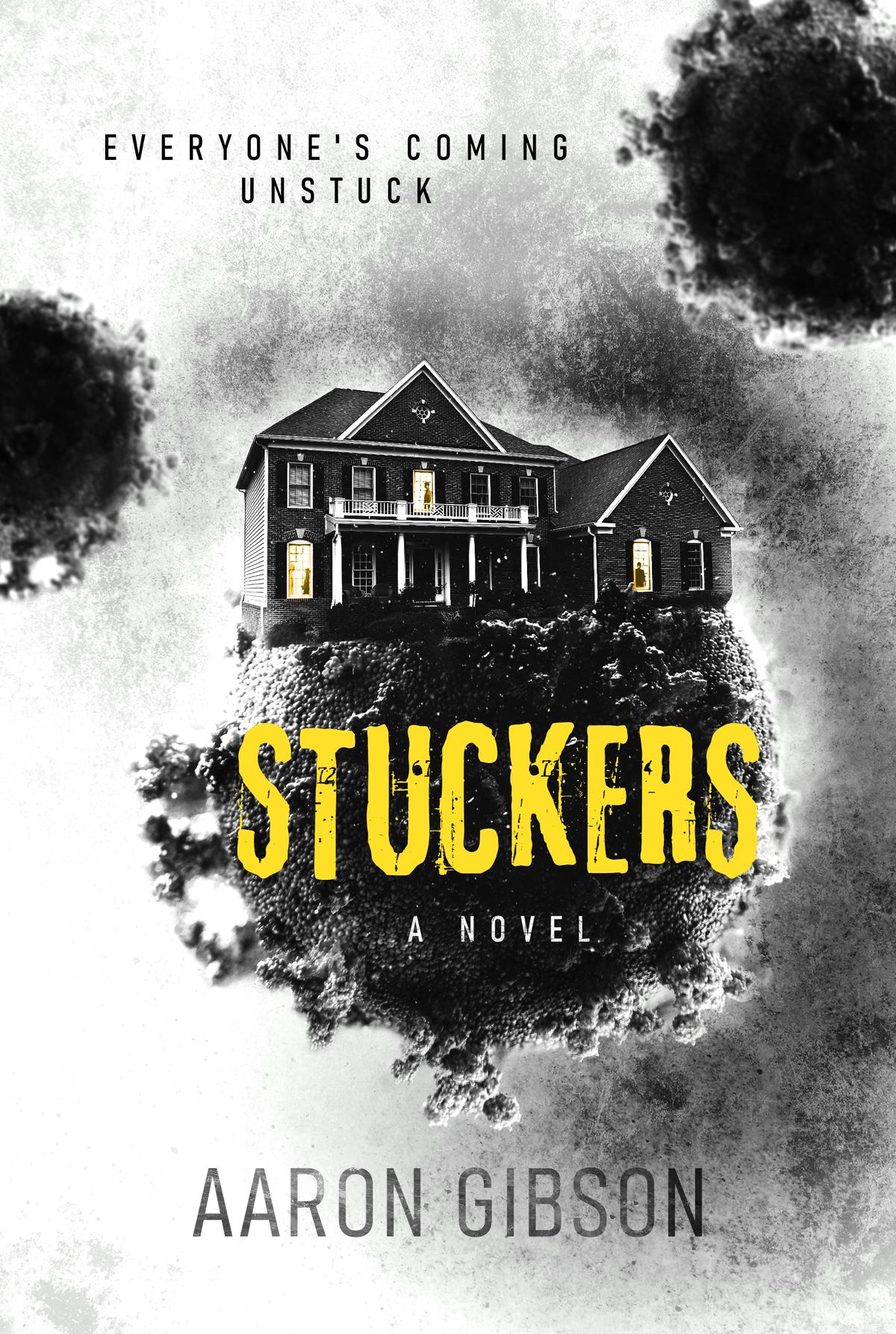 Cover for novel that's a dark family drama w/ black humour, set during Coronavirus pandemic.