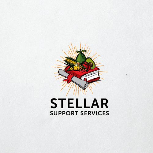 Stellar Support Services logo design
