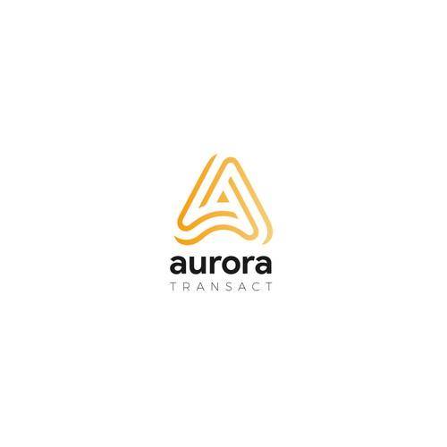 Aurora Transact Concept Logo