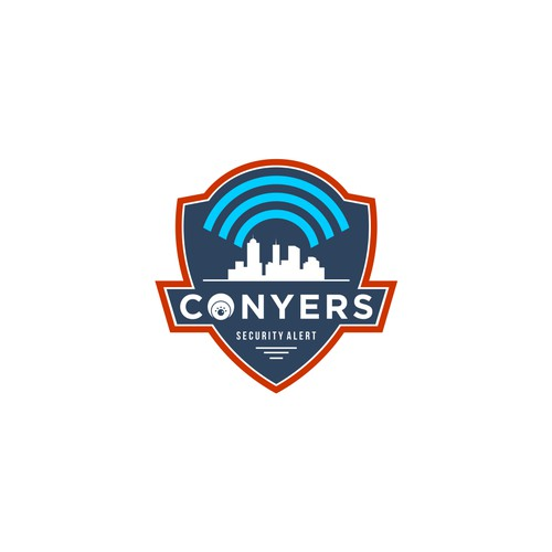 Design an impactful logo for Conyers Security Alert