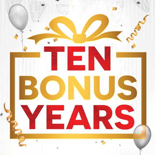 Book cover Ten Bonus Years