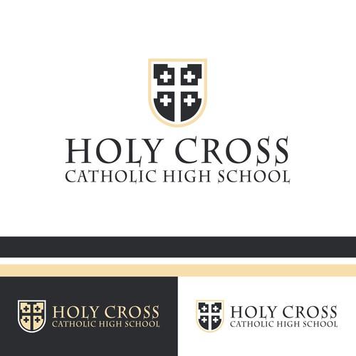 Crest logo for Catholic elementary school