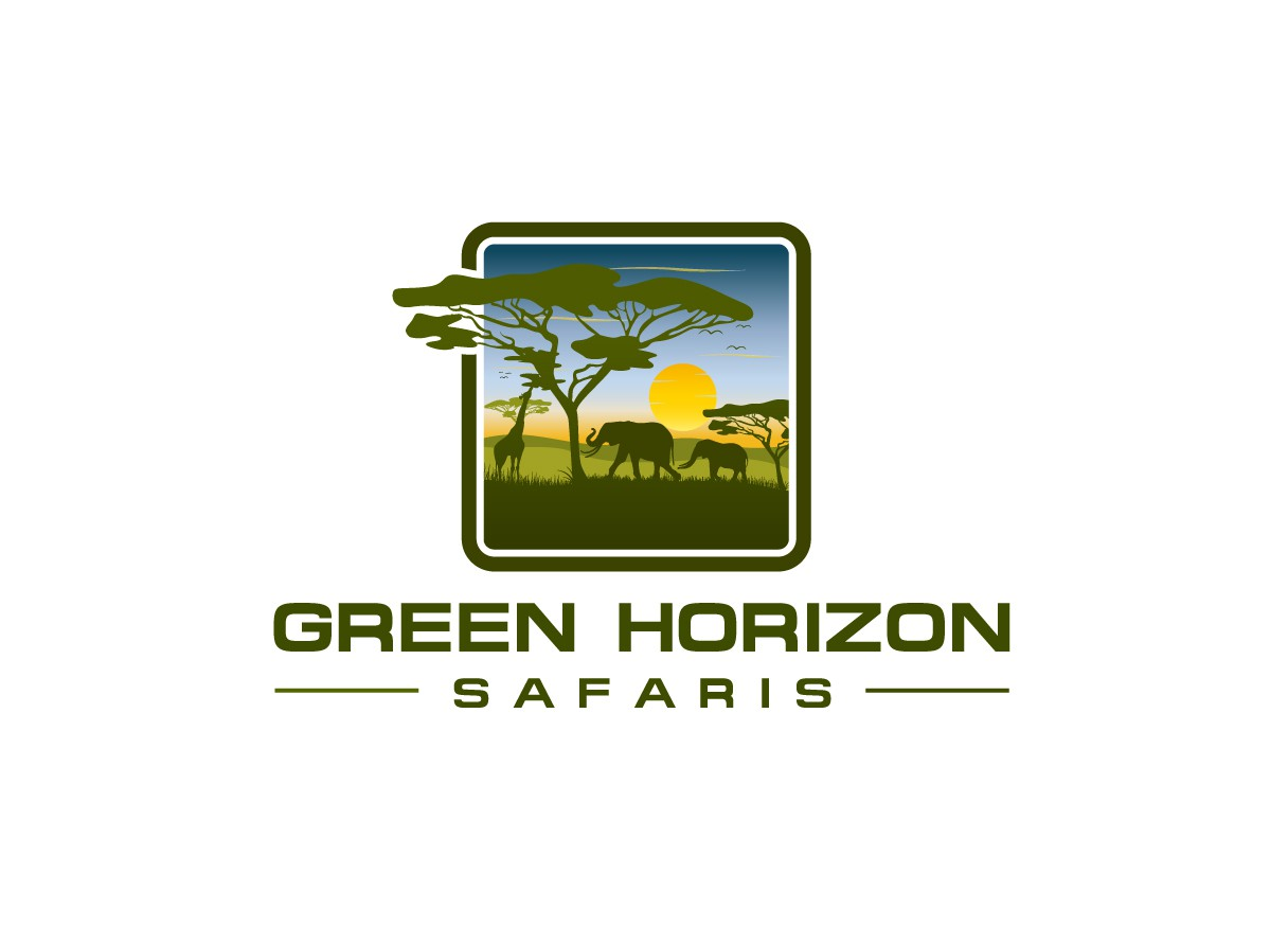 Create an inspiring logo for Green Horizon Safaris (Tanzania)