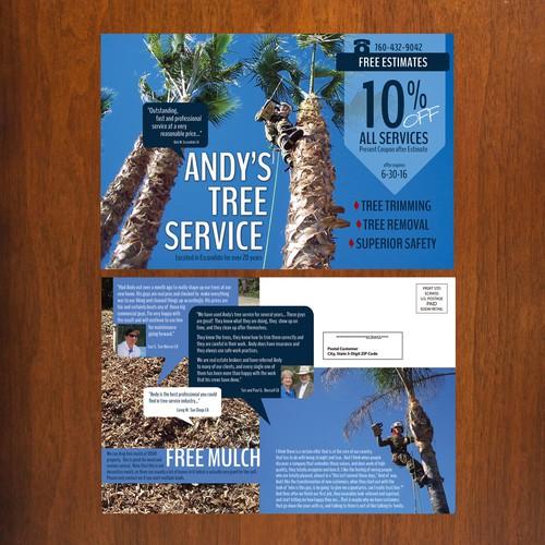 Andy's Tree Service postcard
