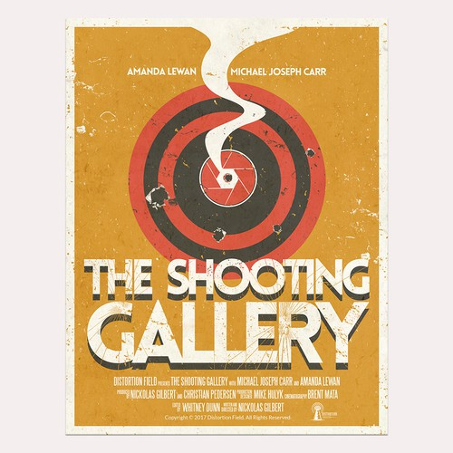 "Design a movie poster for the short film ""The Shooting Gallery"""