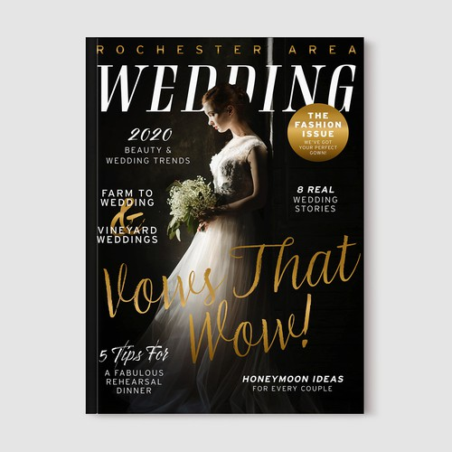 Wedding Magazine Cover Design Entry
