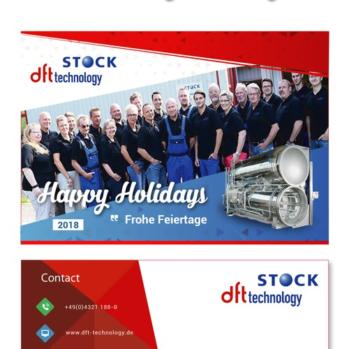 Postcard Design for DFT STOCK