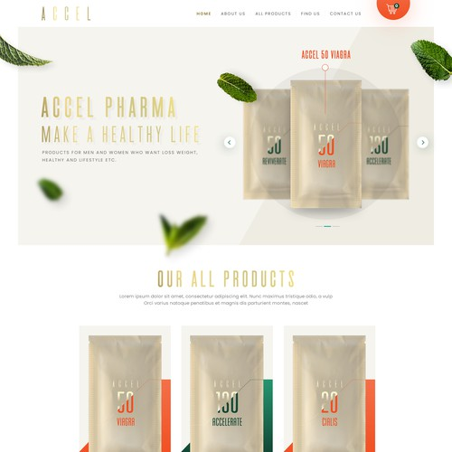 Design an online e-commerce store for our health products