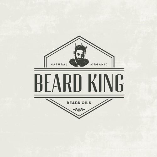 logo for beard king