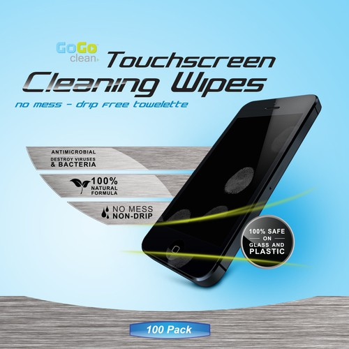 Touchscreen Cleaning Wipe Jar Packaging