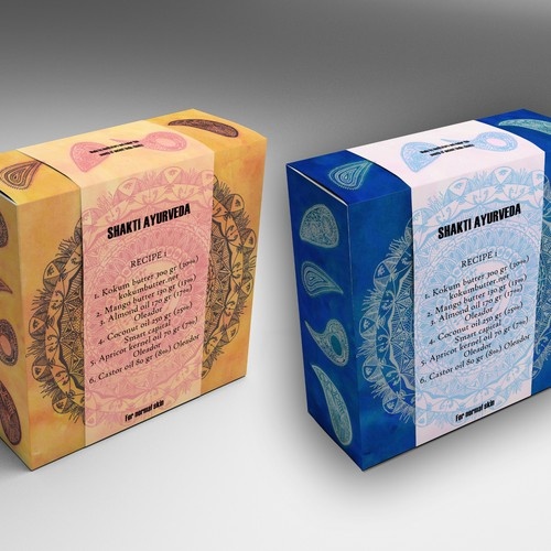 Create the package design for organic Ayurvedic soaps