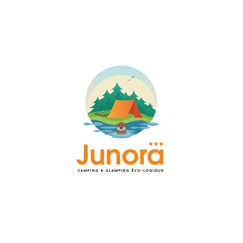 Logo for ecological camping site