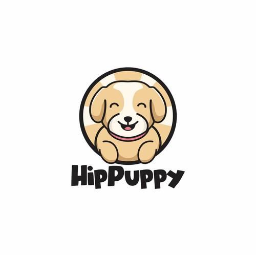 HipPuppy. Logo for Hipster dog store & website