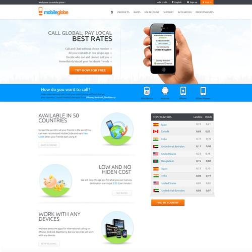 MobileGlobe needs a new website design