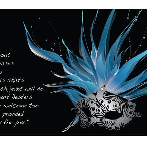 card or invitation for Daughters 18th Birthday Winter Masquerade