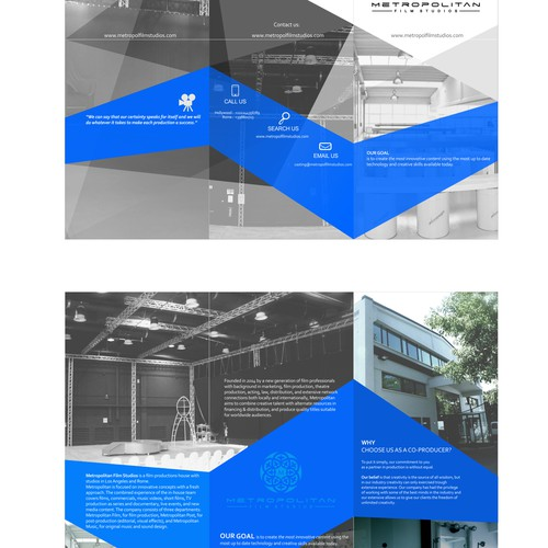 Brochure design for movies studio