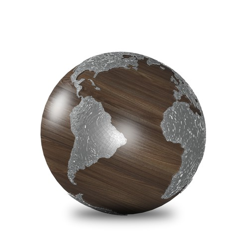 Earth Globe Art