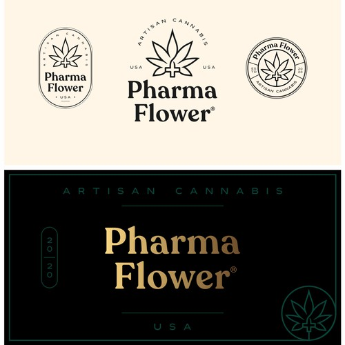 Logo design for Pharma Flower brand