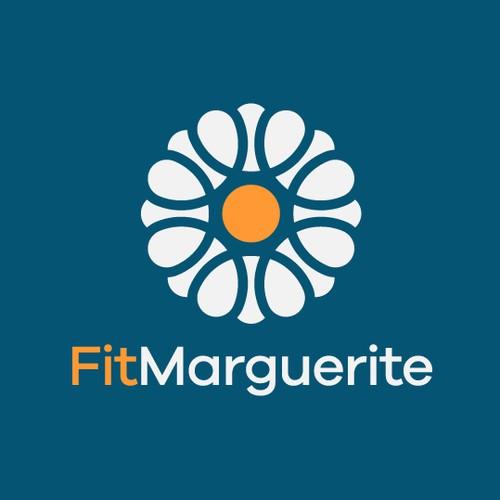 Daisy flower Logo for the fitness clotting.