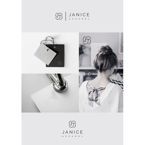 Simple, elegant logo concept for Janice apparel company
