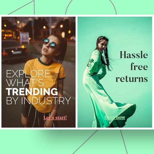 Banner for fashion online shop