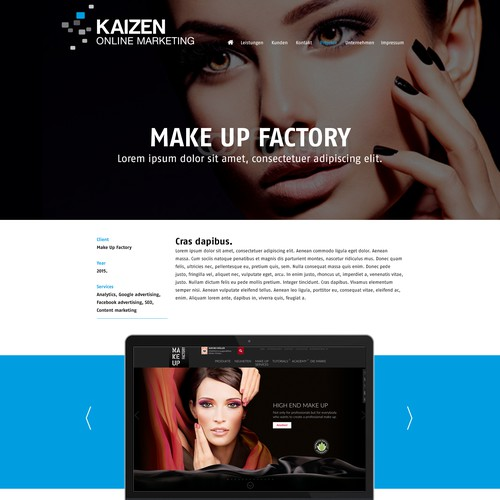 Webdesign for a Online Marketing Agency