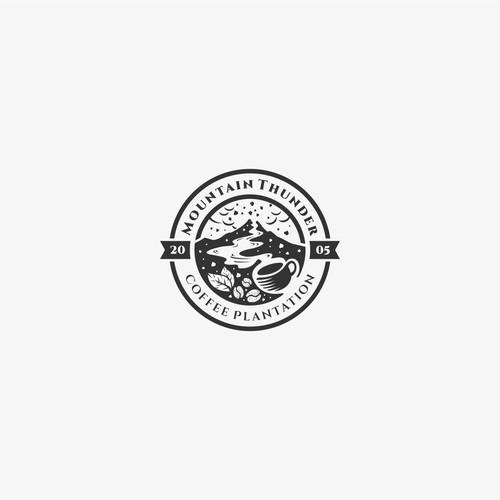 Mountain Thunder Coffee Plantation Logo