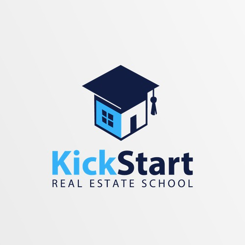 Design a modern, simple logo for Real Estate School