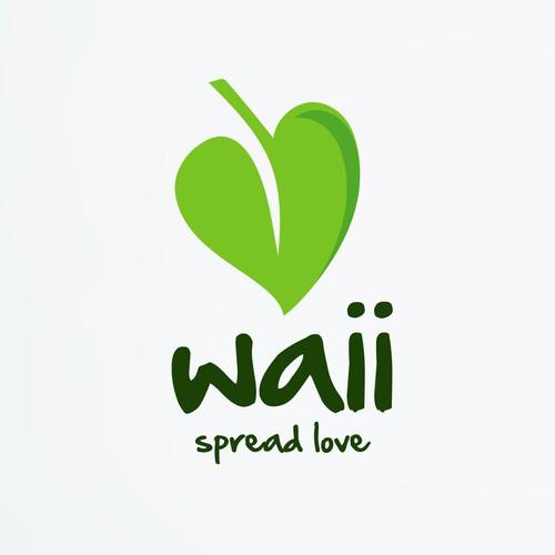 Waii - Inovative organic food logo