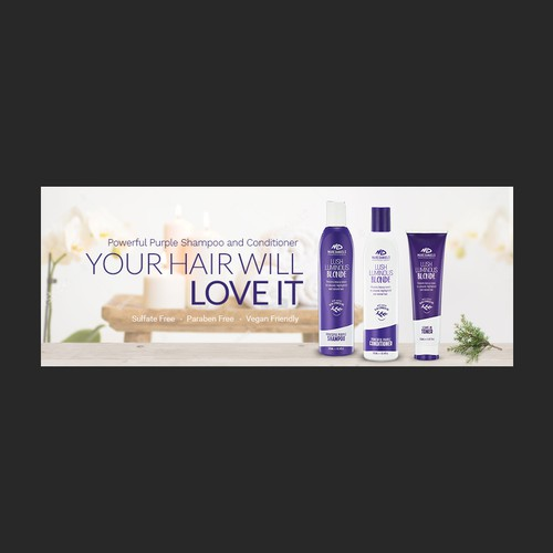 Facebook cover for haircare brand