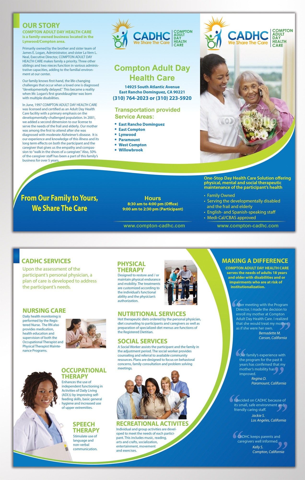 Help Compton Adult Day Health Care with a new brochure design