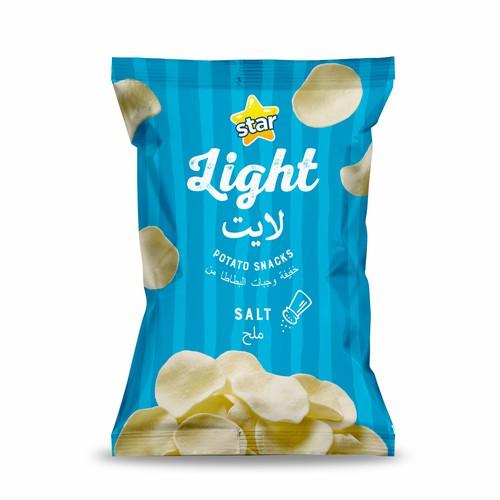 Embalagem de chips Star Light.