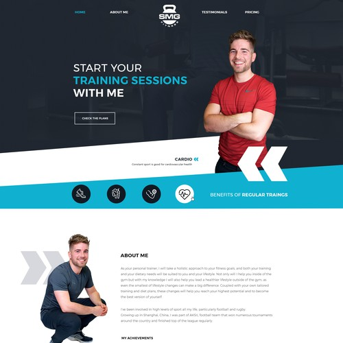 Wordpress Design for a Personal Trainer