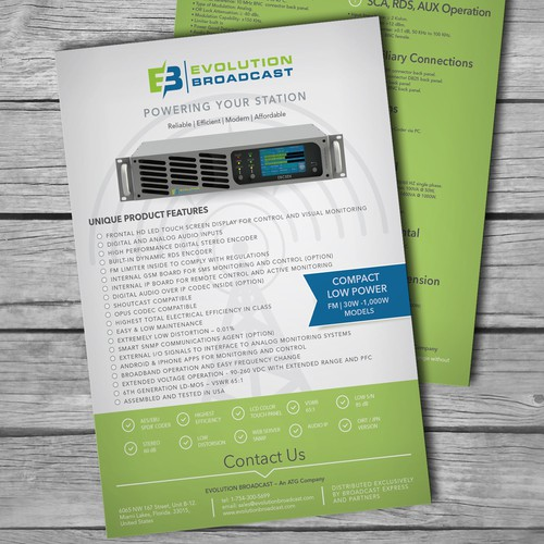 PRODUCT BROCHURE - FM BROADCAST TRANSMITTER