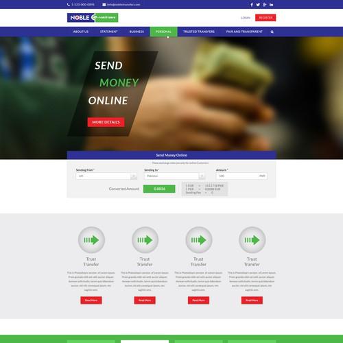 Design a website for a Money Transfer group based in UK