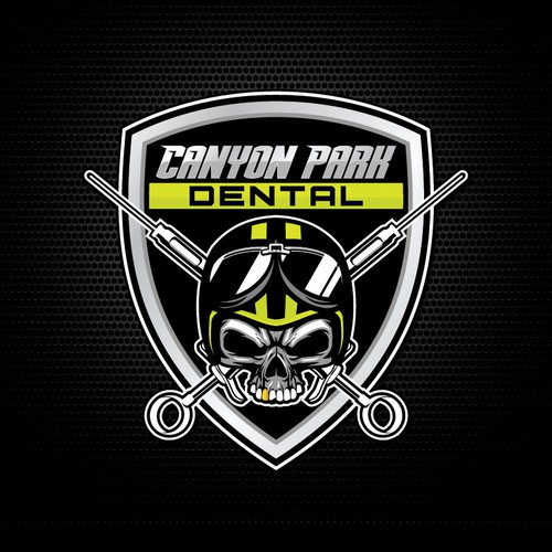 Evil dentist badass logo