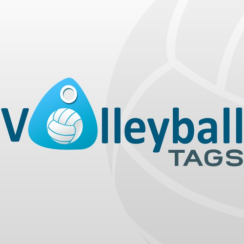 Logo volleyball tags