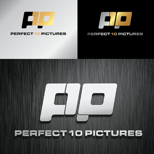 Create the next logo for Perfect 10 Pictures or the shortened version p10p