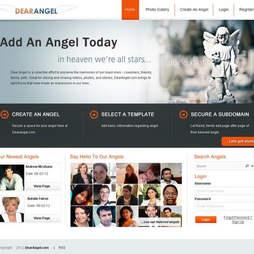 website design for Dear Angel